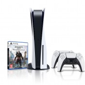 Sony PlayStation 5 Disc Edition + Assassin's Creed Valhalla + SONY PLAYSTATION DUALSENSE DRAADLOZE CONTROLLER WIT