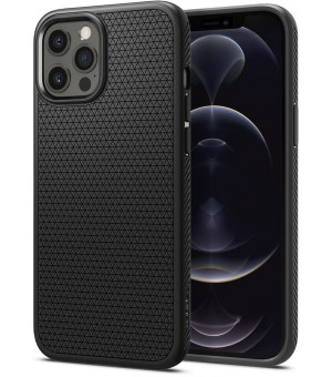 Spigen Liquid Air Matte iPhone 12 Pro Max Zwart ACS01617