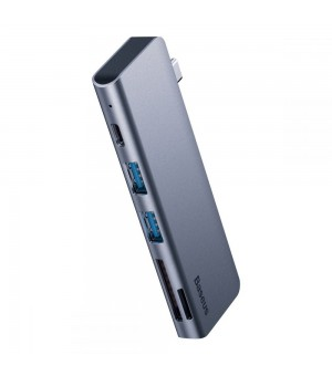 Baseus Superlative 5-in-1 USB-C Smart Hub Grijs