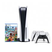 Sony PlayStation 5 Disc Edition + Sackboy: A Big Adventure + PlayStation DualSense Controller Wit