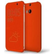 HTC One M8/M8S Dot View Case M100 - Orange