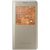 Samsung Galaxy Alpha S View Cover - Gold