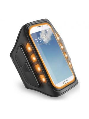 muvit Universal LED Sportsarmband L Black / Orange