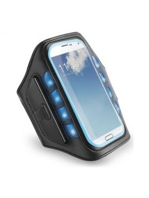 Muvit Universal LED Sportsarmband - Zwart / Blauw