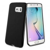 Muvit Samsung Galaxy S6 Edge MiniGel case glossy - Zwart