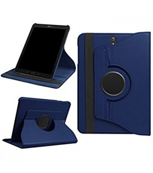 PM Rotating Stand & Case Galaxy Tab S3 T820 / T825 Donker Blauw