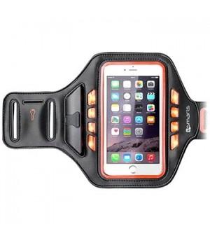 4smarts Basic Universal LED Sportarmband Jogger Oranje
