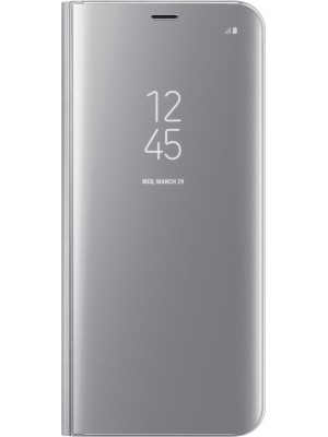 Samsung Galaxy S8 Plus Clear View Stand Cover - Zilver