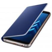 Samsung Galaxy A8 (2018) Neon Flip Cover - Blauw