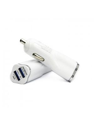 Moxom - Dual Autolader met micro-Usb Kabel - Wit