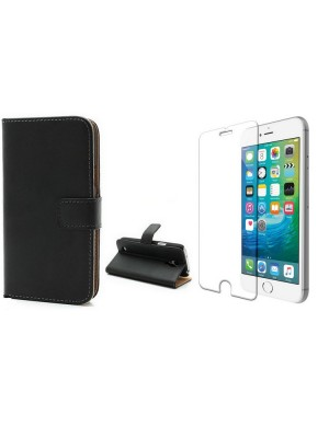 Book Case + Tempered Glass iPhone 6/6S