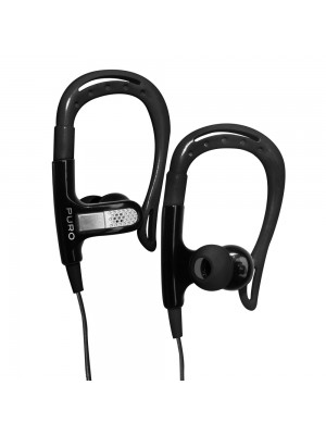 Puro Stereo In-Ear Earphone Sport w/Earhook and Round Cable and Answer Button  - Black