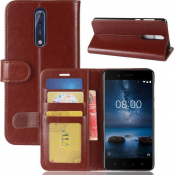 PM - Book Case Nokia 8 - Bruin