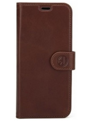 Rico Vitello Genuine Leather Wallet Case Galaxy S9 Plus - Vintage Bruin