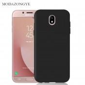 PM - Silicone Case Samsung Galaxy J7 (2017) - Zwart