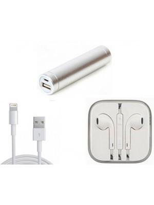 Power Bank + Earpods + Lightning kabel