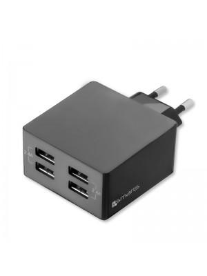 4Smarts Thuislader PowerPlug Quad 4x USB Poorten