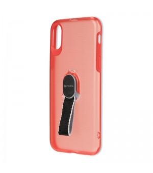 4Smarts Clip-On Hoesje met vingerriem iPhone X / iPhone XS Rood