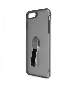 4Smarts Clip-On Hoesje met vingerriem iPhone 8 / 7 Plus Zwart