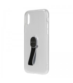 4Smarts Clip-On Hoesje met vingerriem IPhone X / iPhone XS Clear
