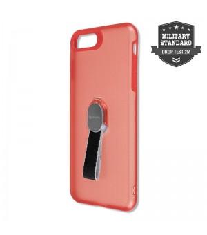 4Smarts Clip-On Hoesje met vingerriem iPhone 8 / 7 Plus Rood