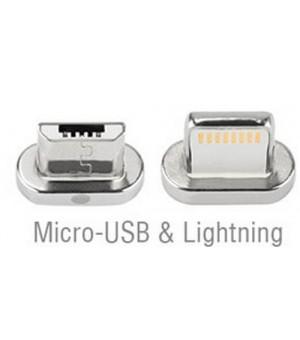 4smarts Magnetic Lightning & Micro USB Connector pak van Twee