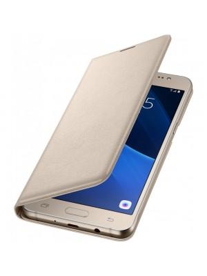 Samsung Galaxy J5 (2016) EF-WJ510PF Flip Wallet - Gold