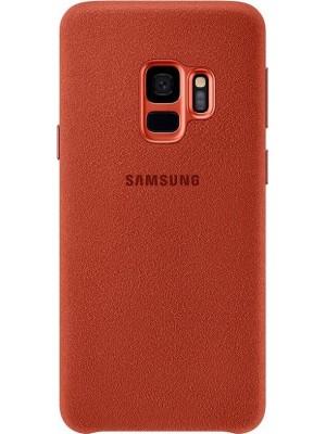 Samsung Galaxy S9 Alcantara Back Cover - Rood