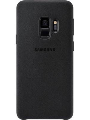 Samsung Galaxy S9 Alcantara Back Cover - Zwart
