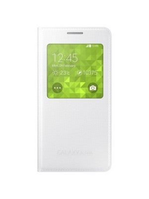 Samsung Galaxy Alpha S View Cover - White