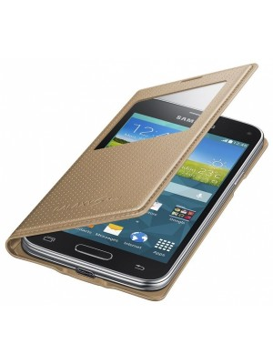 Samsung Galaxy S5 MINI S View Cover - Gold
